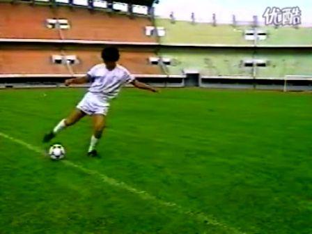 基础足球技术 脚背内侧踢球