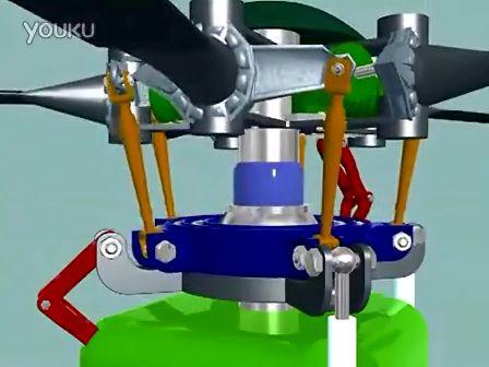 直升飞机旋翼头原理动画s-61