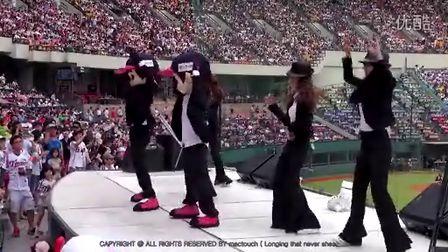 韩国美女啦啦队黑西服美人130608热舞