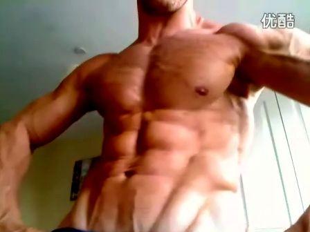 欧美肌肉帅哥胸肌腹肌