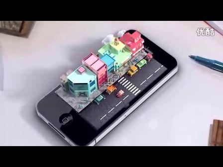 以iPhone为主角的全息3D概念影片