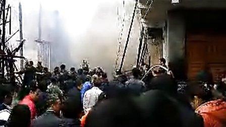 2012江华县水口镇码市街特大火灾视频