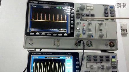 固纬电子数字存储示波器GDS-2000A波形捕获率80,000wfrms/s验证