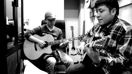 雷震 郝浩涵/普通朋友吉他弹唱