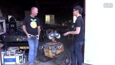 牛人打造现实版WALL-E机器人