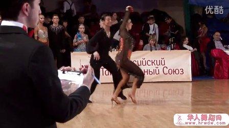 2014年莫斯科冬季之星体育舞蹈公开赛半决赛牛仔Горденков Никита - Баранов