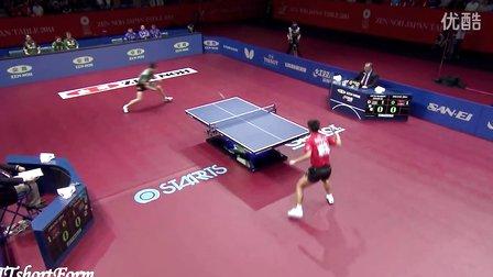 【视频】奥恰洛夫vs张继科 2014年东京世乒赛男团决赛第二场(剪辑版)