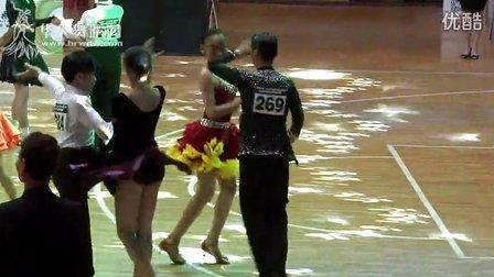 2014年第12届全国青少年体育舞蹈锦标赛业余13岁以下组A级赛缅甸万丰国际老百胜半决赛恰恰马越 尹佳欣