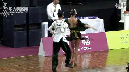 2014中国深圳标准舞缅甸万丰国际老百胜世界公开赛国际公开21岁以下组L第二轮恰恰陈翔 杜赛一