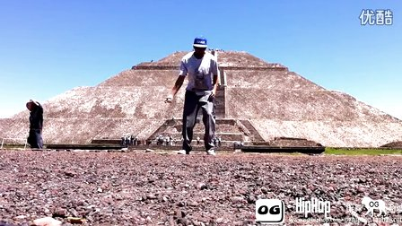 【街舞视频】机械舞牛人 poppin 达人大师 popping john and Conker Mong @ Pyramid Del Sol Mexico