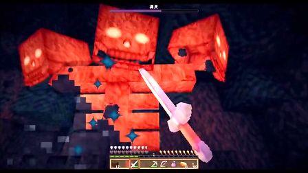 ecraft】大橙子教小枫玩生存第15集-三秒打凋零~-城堡毁灭者 第六弹