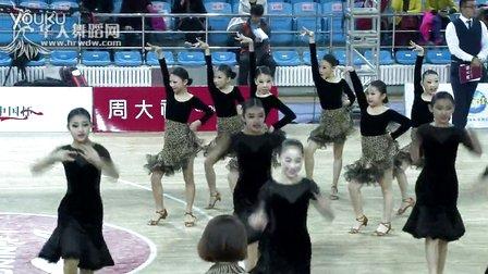2015年CBDF中国杯巡回赛(长春站)业余12岁以上金牌6人组L决赛牛仔大连市国标舞协会百川教育