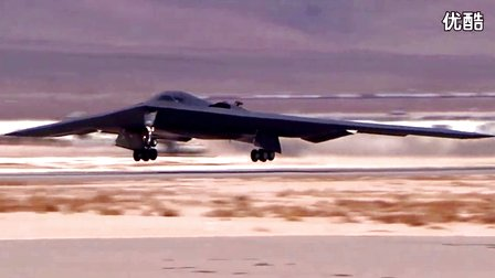 """【军事武器】-美军B-2 """"幽灵""""隐形轰炸机准备起飞﹠费尔福德空军基地"""
