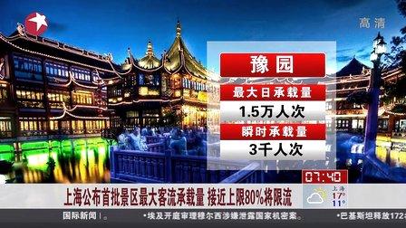 上海公布首批景区最大客流承载量  接近上限80%将限流[看东方]